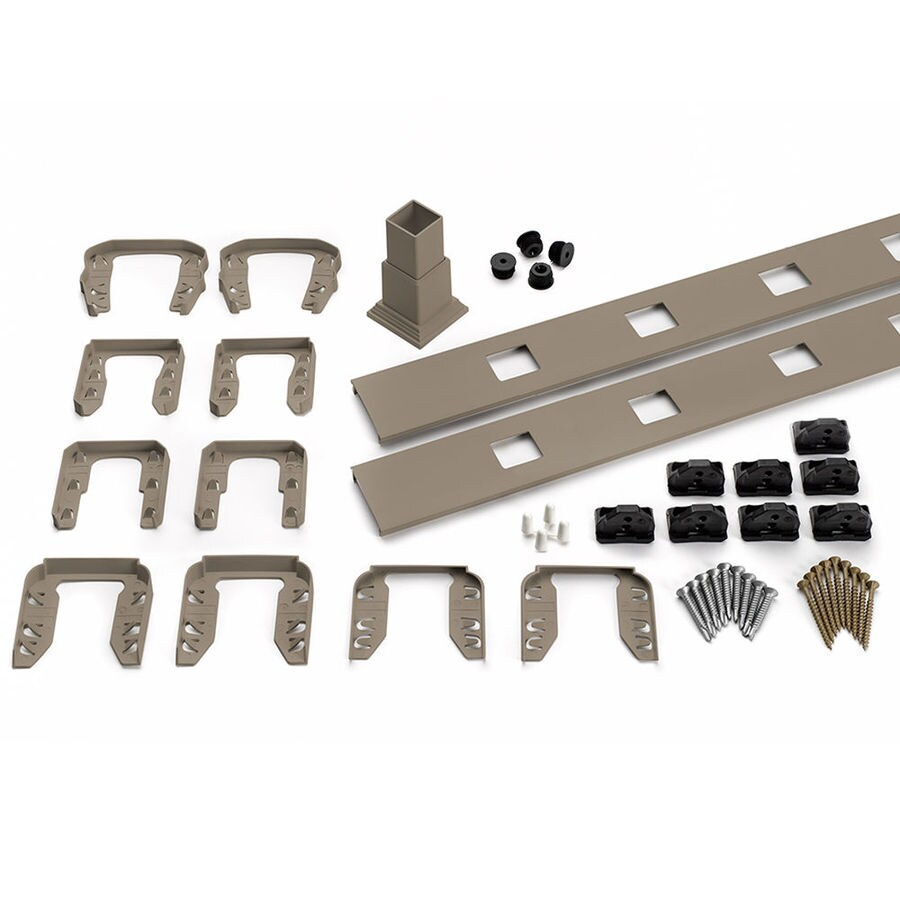 Trex (Assembled: 5.625-ft x 3-ft) Transcend 4-Pack Gravel Path Composite Deck Railing Kit