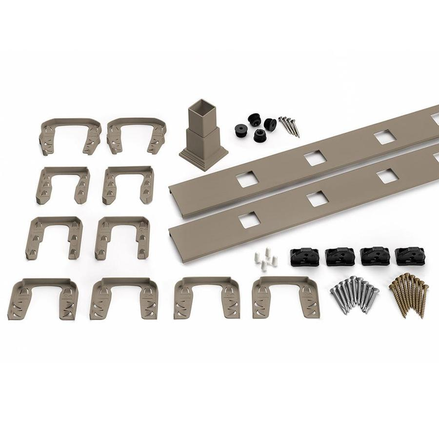 Trex (Assembled: 7.625-ft x 3-ft) Transcend 4-Pack Gravel Path Composite Deck Railing Kit