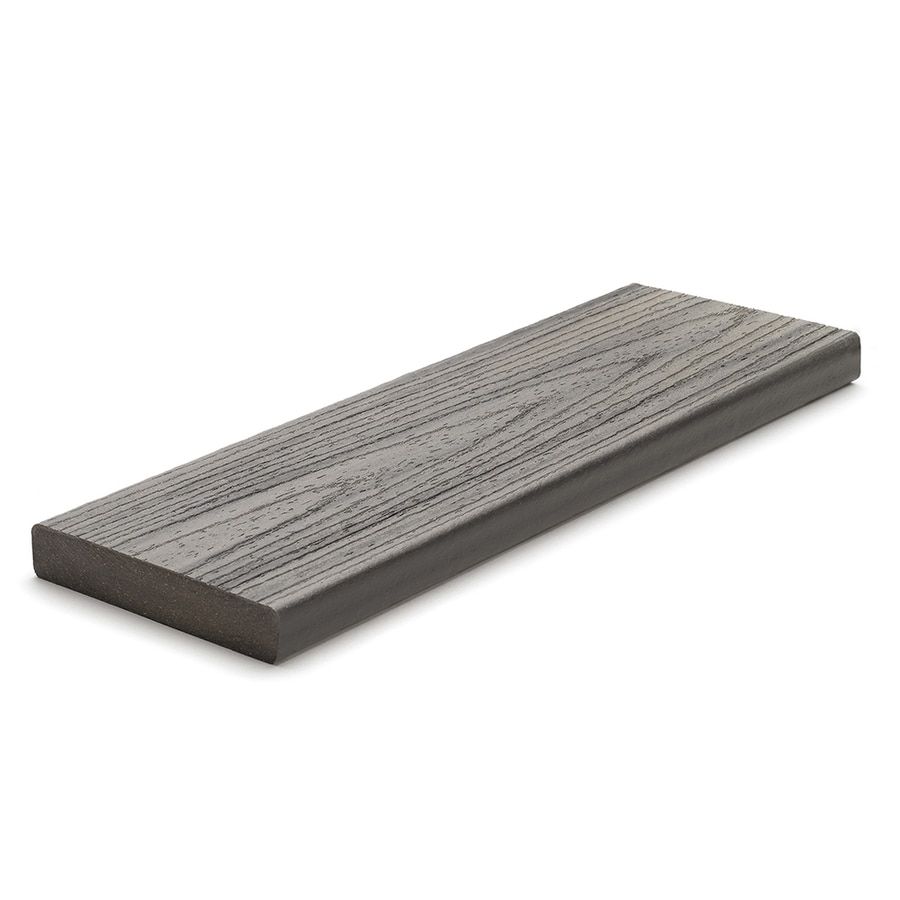Trex (Actual: 0.94-in x 5.5-in x 12 Feet) Transcend Island Mist Square Composite Deck Board