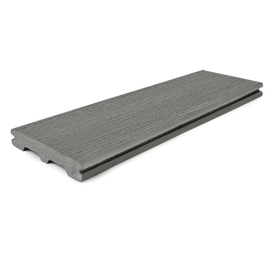 Style Selections (Actual: 0.94-in x 5.5-in x 20-ft) Natural Grey Grooved Composite Deck Board