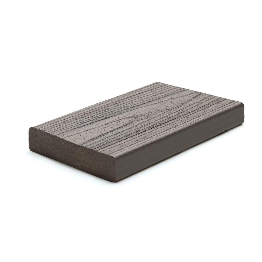 Trex (Actual: 1.3-in x 5.5-in x 16-ft) Transcend Island Mist Square Composite Deck Board