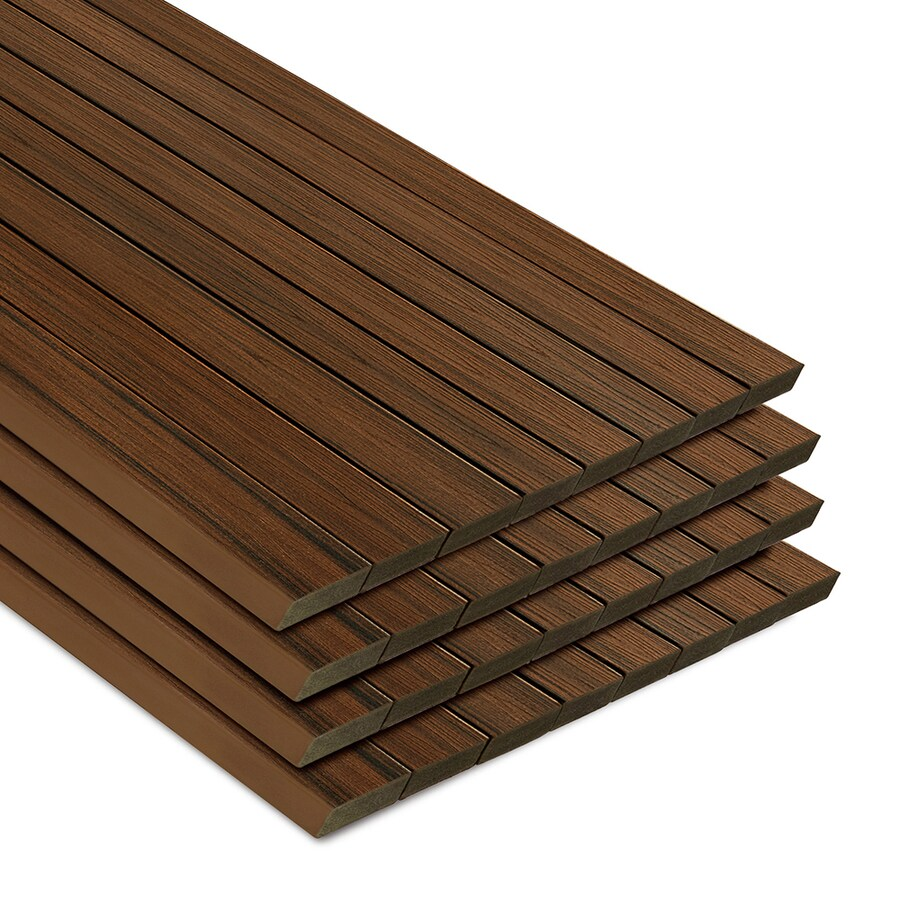 Trex (Actual: 1.3-in x 5.5-in x 20-ft) Transcend Spiced Rum Square Composite Deck Board