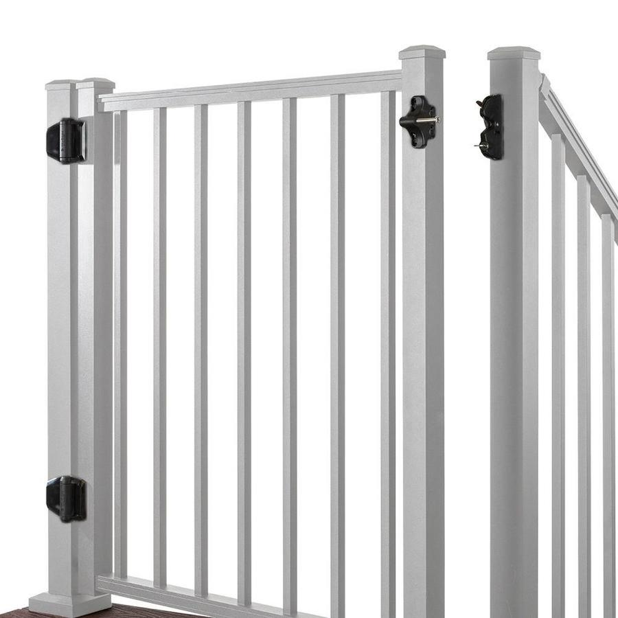 Trex (Common: 3.5-ft x 4-ft; Actual: 3.46-ft x 3.87-ft) Gates Classic White Aluminum Decorative Fence Gate