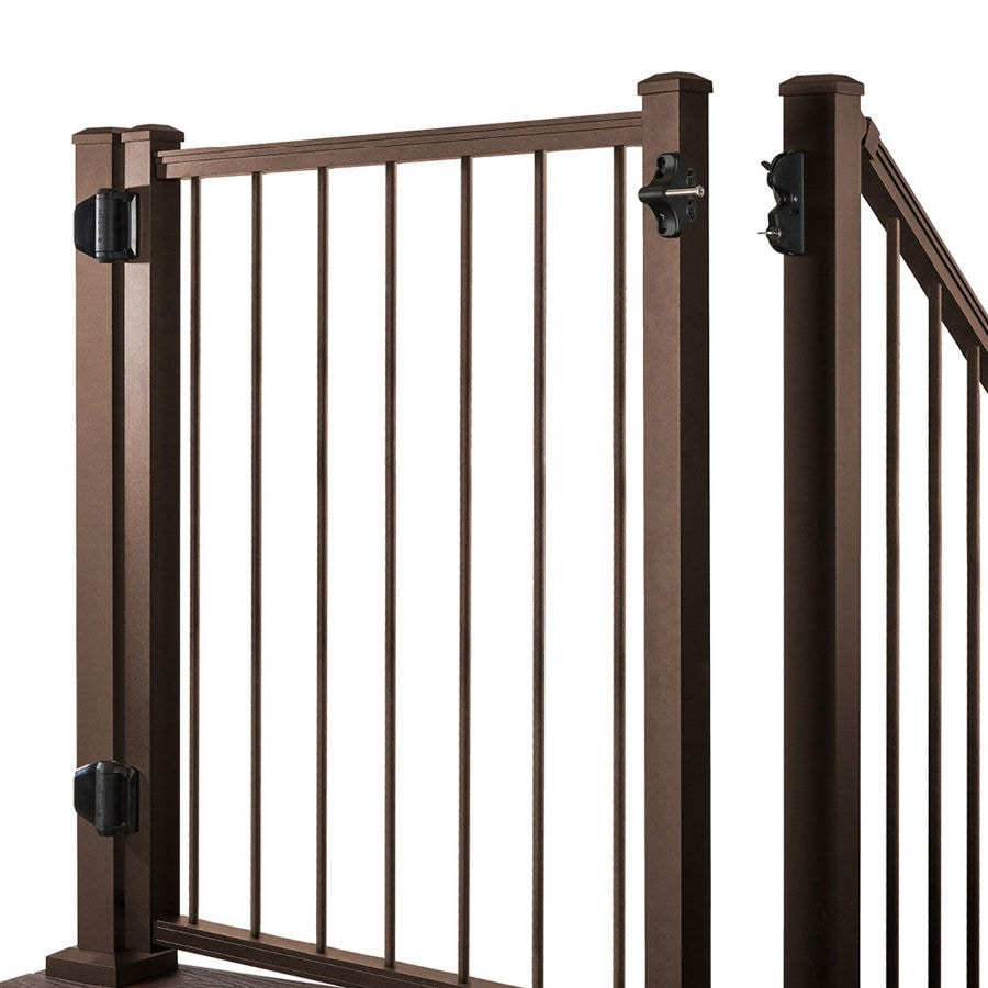 Trex (Common: 3.5-ft x 4-ft; Actual: 3.46-ft x 3.87-ft) Gates Bronze Aluminum Decorative Fence Gate