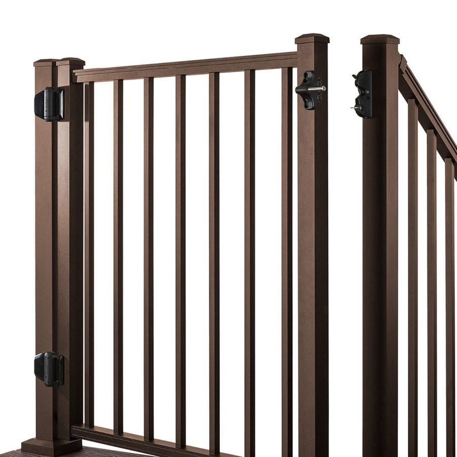 Trex (Common: 3-ft x 4-ft; Actual: 2.9600-ft x 3.8700-ft) Gates Bronze  Aluminum  Decorative  Fence Gate
