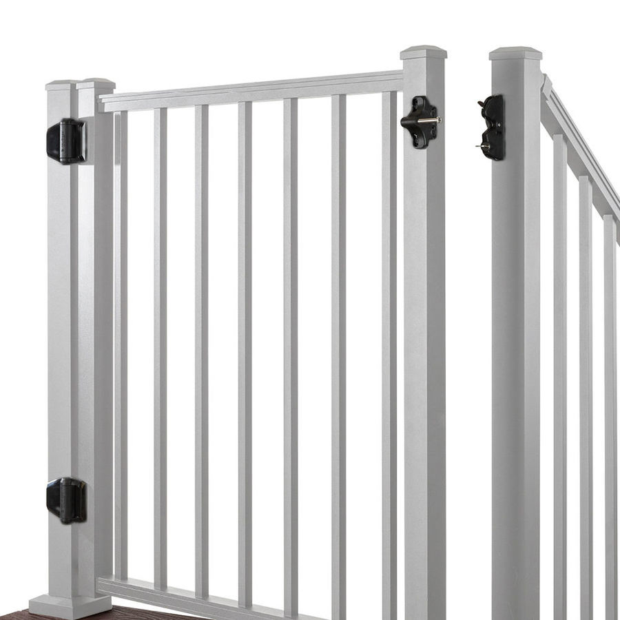 Trex (Common: 3-ft x 4-ft; Actual: 2.9600-ft x 3.8700-ft) Gates Classic White Aluminum Decorative Fence Gate