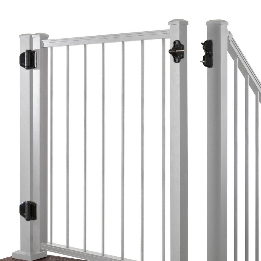 Trex (Common: 3-ft x 4-ft; Actual: 2.96-ft x 3.87-ft) Gates Classic White Aluminum Decorative Fence Gate