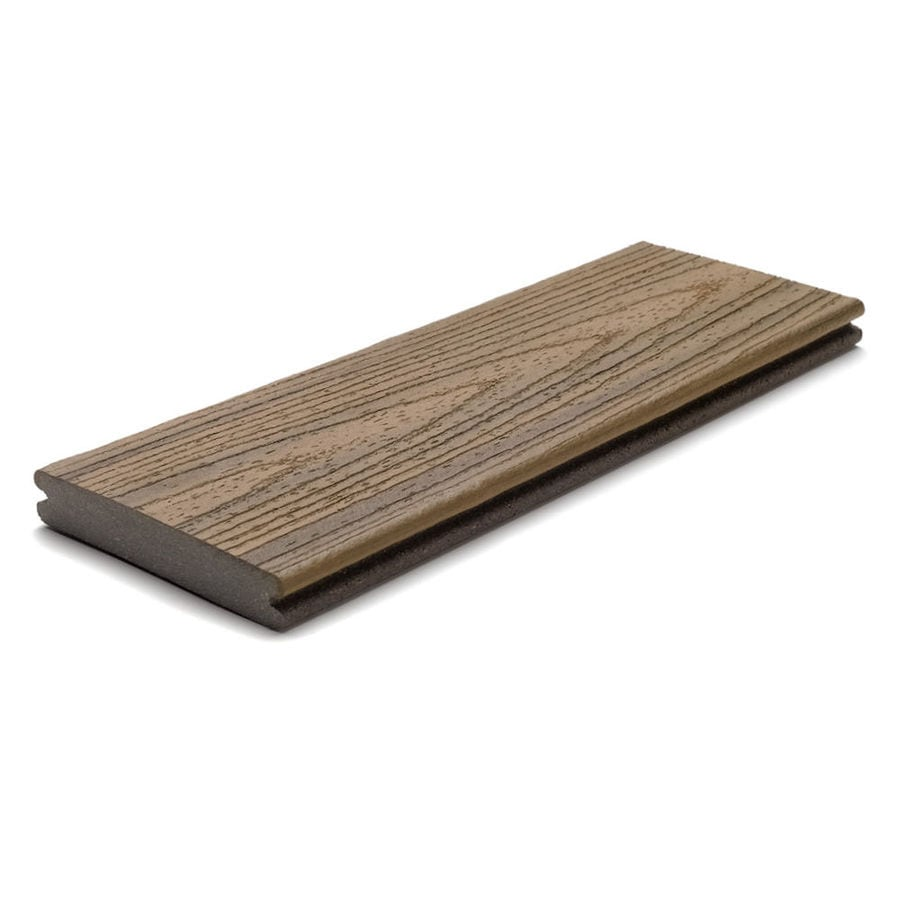 Trex (Actual: 0.94-in x 5.5-in x 20-ft) Transcend Havana Gold Grooved Composite Deck Board