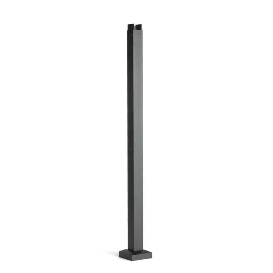 Trex Reveal Railing 42-in Charcoal Black Painted Aluminum Porch Post