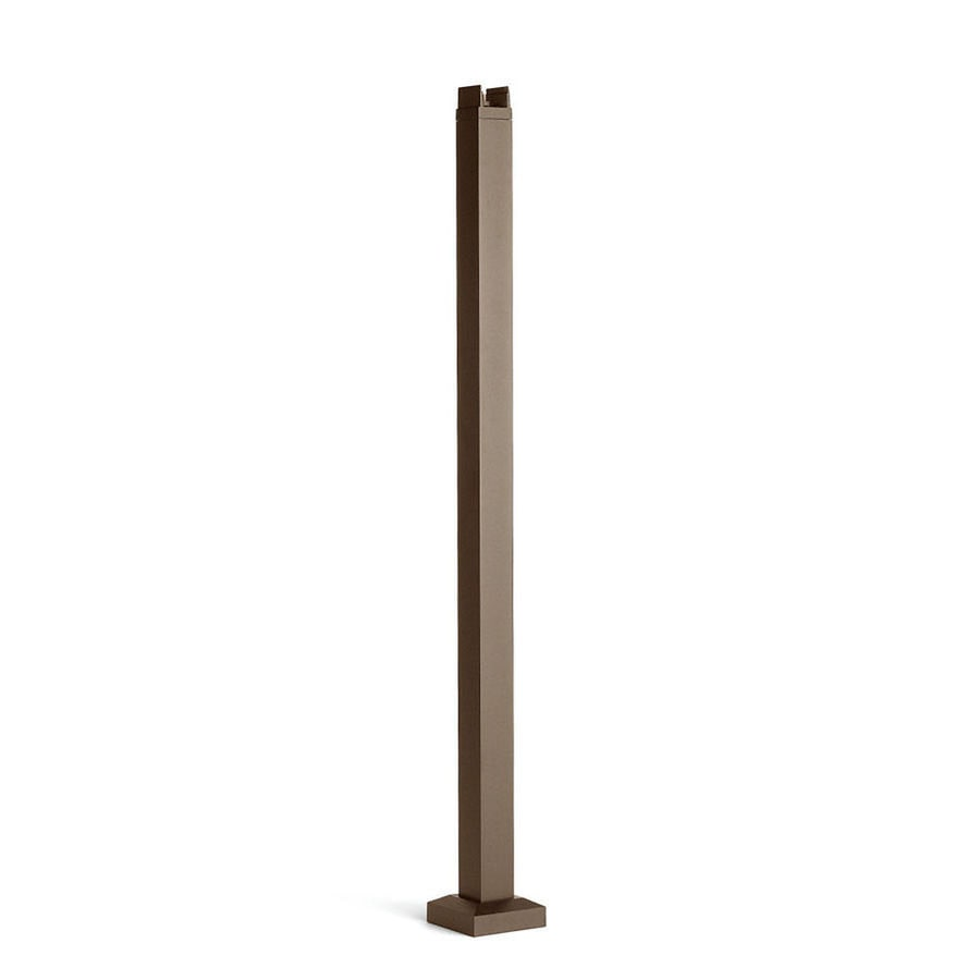 Trex Reveal Railing 42-in Bronze Painted Aluminum Porch Post