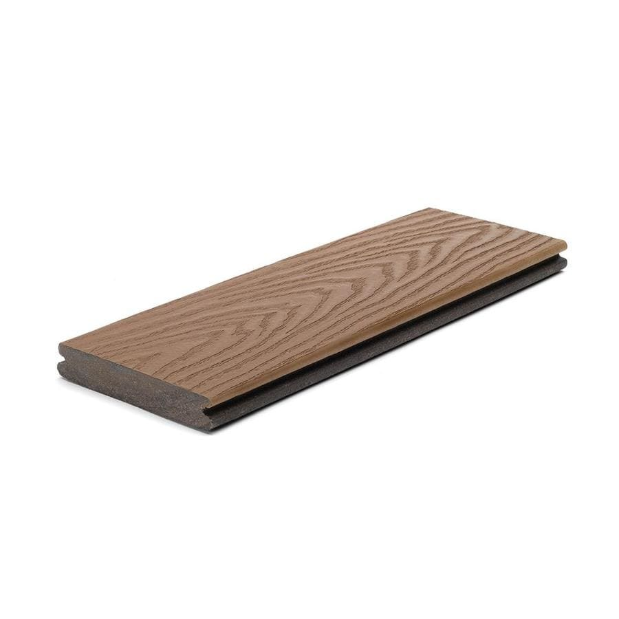 Shop trex select saddle deck board sample at for Composite deck boards reviews