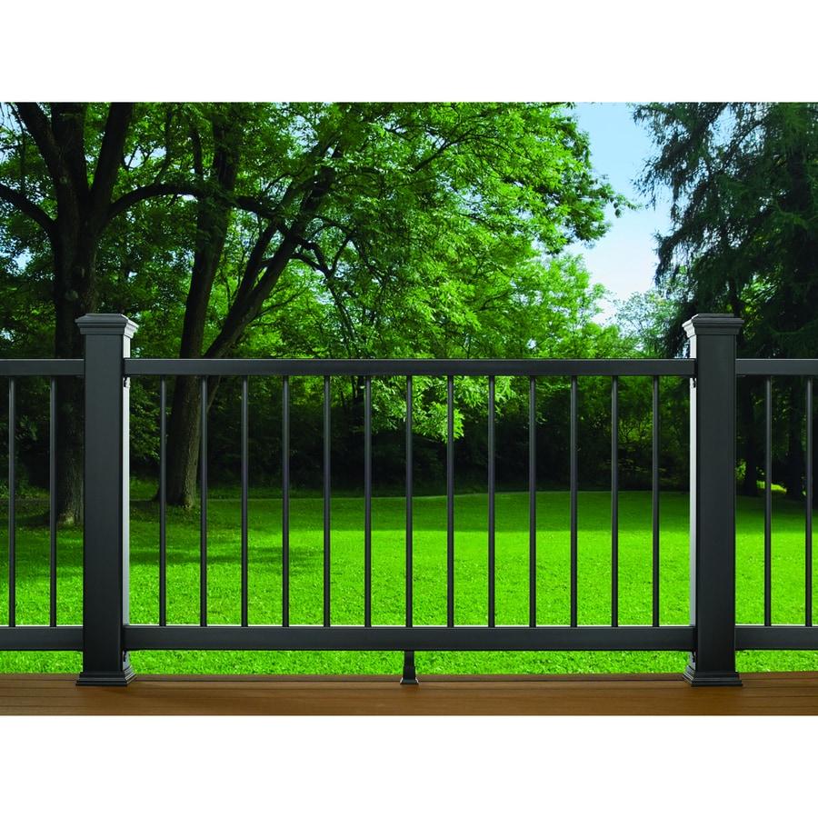 Trex (Assembled: 6-ft x 3-ft) Enhance Charcoal Black Composite Deck Railing Kit