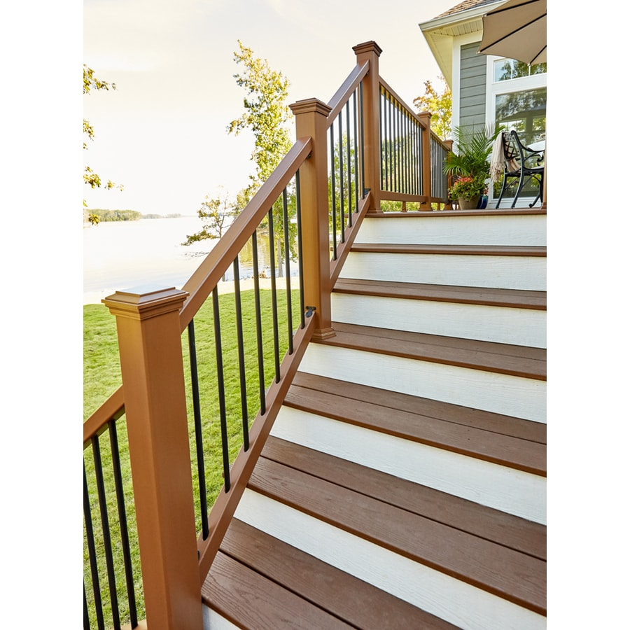 Trex (Assembled: 6-ft x 3 Feet) Enhance 17-Pack Saddle Composite (Not Wood) Deck Railing Kit