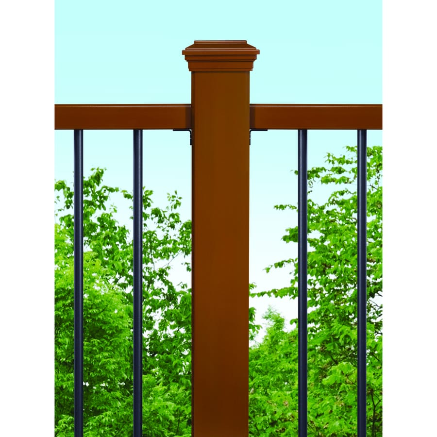 Trex Saddle Composite Deck Post Sleeve (Fits Common Post Measurement: 4-in x 4-in; Actual: 4.45-in x 4.45-in x 48-in)