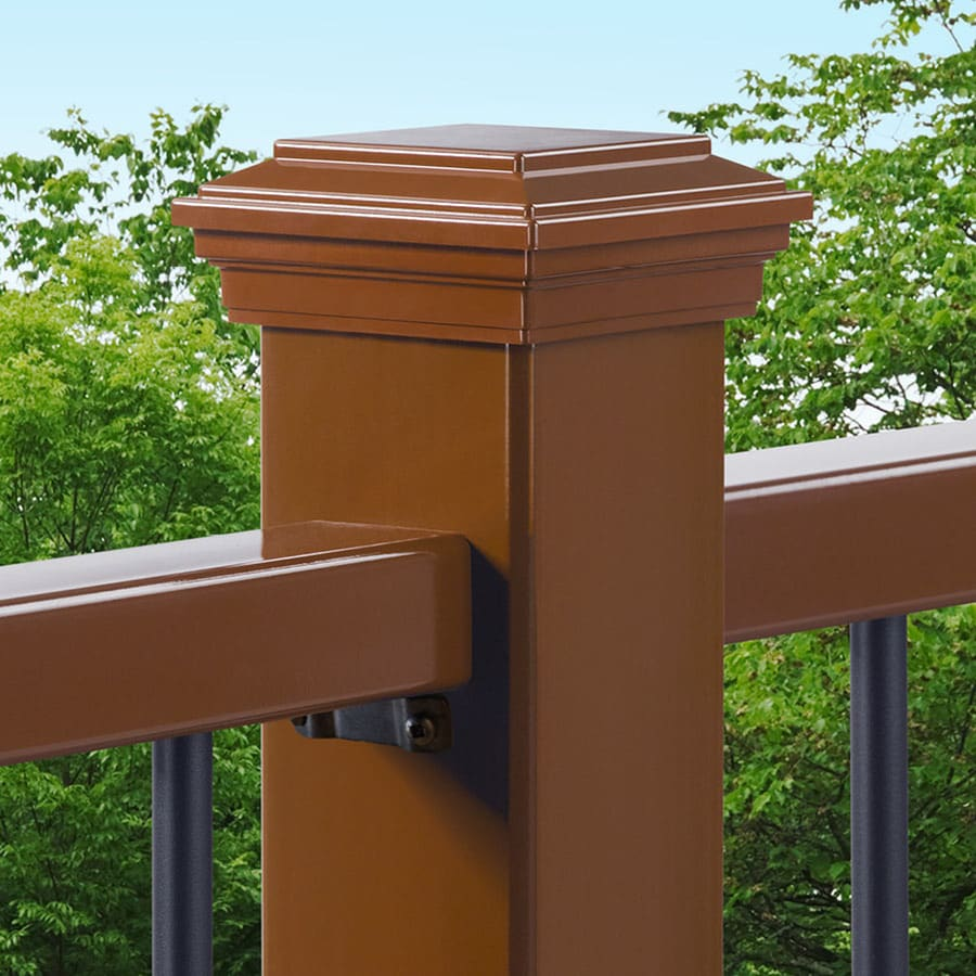 Trex (Fits Common Post Measurement: 4-in X 4-in; Actual: 3.125-in x 4.55-in x 4.55-in) Saddle Deck Post Cap
