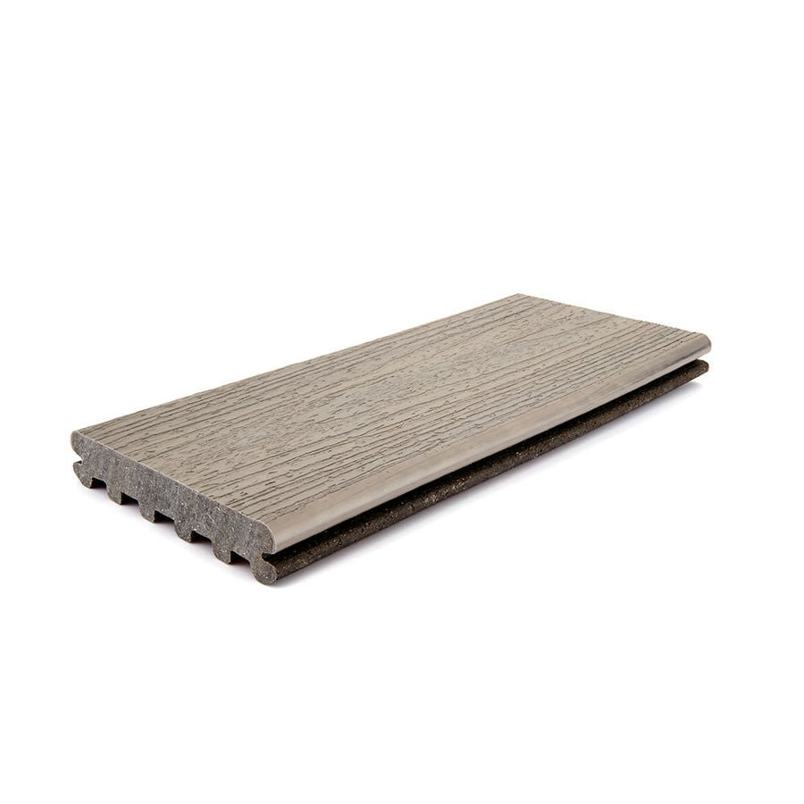Trex Enhance Naturals 12 Ft Rocky Harbor Grooved Composite Deck Board In The Boards Department At Lowes