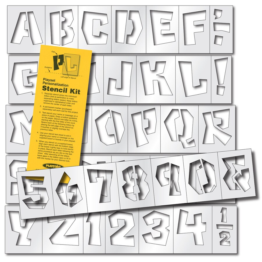 PlayStar Plastic Stencil Kit