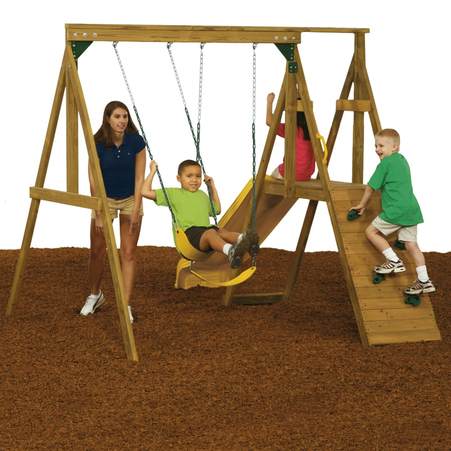 PlayStar Sonoma Wood Playset with Swings