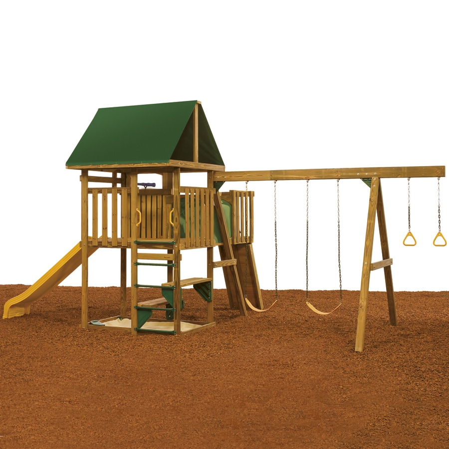 PlayStar Legend Qualifier Wood Playset with Swings