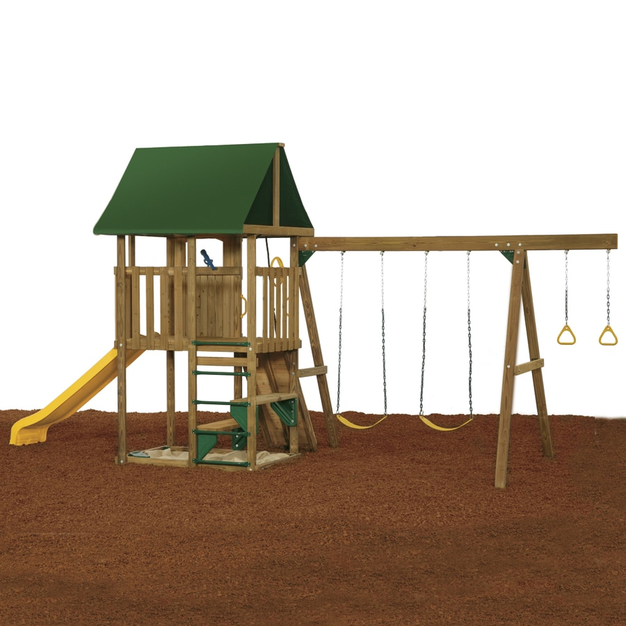 PlayStar Legend Starter Wood Playset with Swings