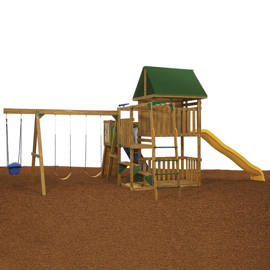 PlayStar Great Escape Bronze Wood Playset with Swings