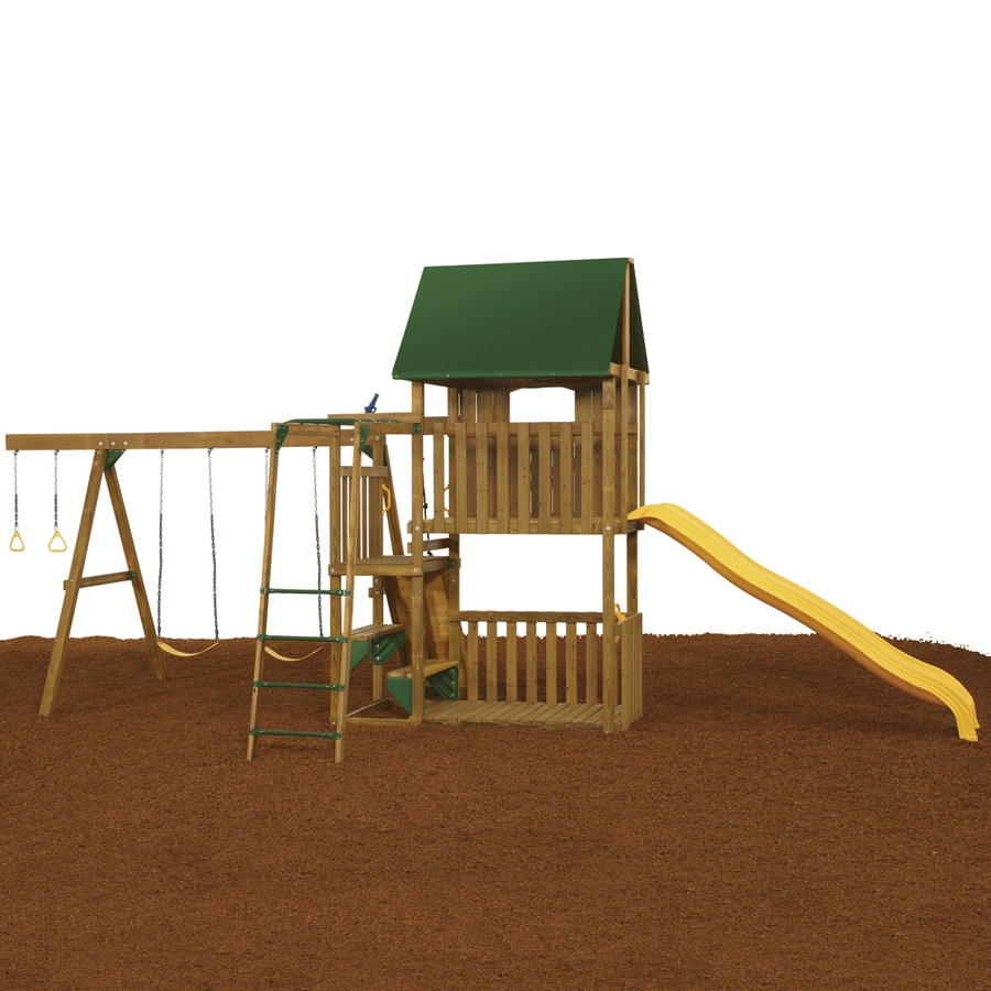 PlayStar Great Escape Starter Wood Playset with Swings