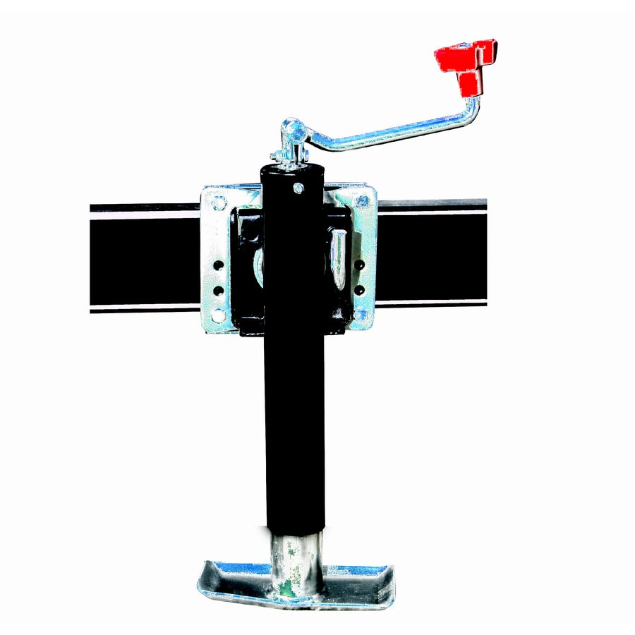 carry on trailer 2 000 lb capacity top wind trailer jack at lowes com