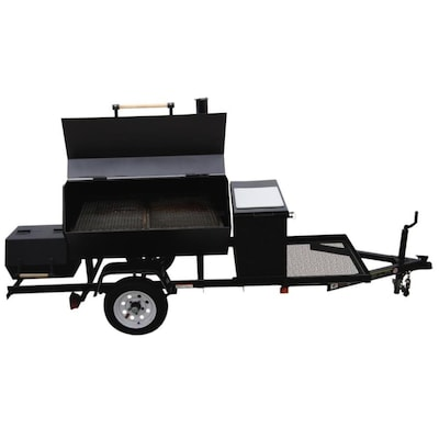 Carry-On Trailer 1728-sq in Black Charcoal Horizontal Smoker