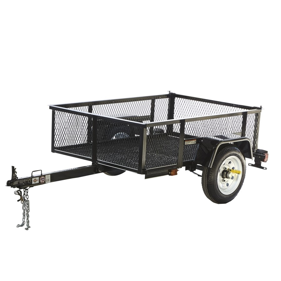 Shop Carry-On Trailer 3.5-ft x 5-ft Wire Mesh Utility Trailer at ...