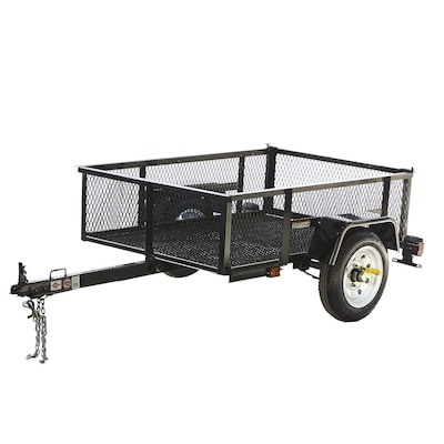 3.5-ft x 5-ft Wire Mesh Utility Trailer
