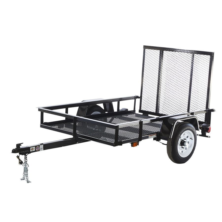 Carry On Trailer 8 Ft X 4 Ft Wire Mesh Utility Trailer With Ramp Gate