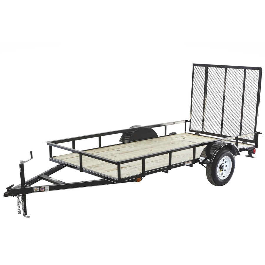 Carry-On Trailer 5-ft x 10-ft Treated Lumber Utility Trailer with Ramp Gate