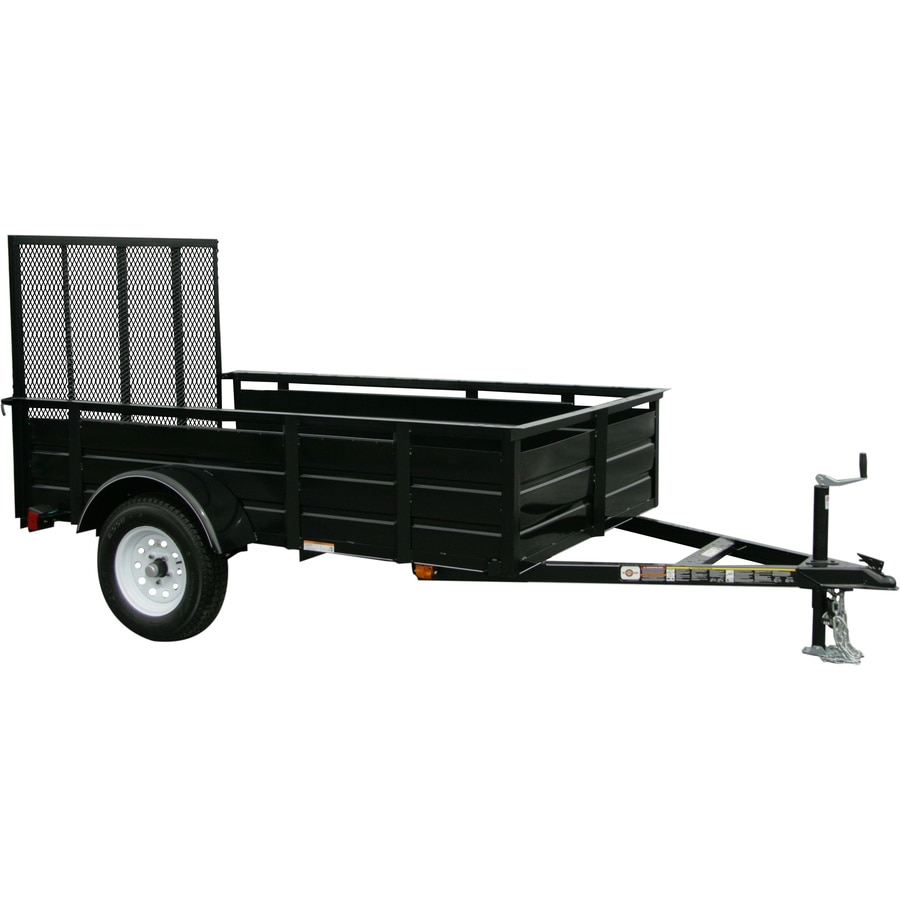 Utility Trailers: Carry-On Trailer 5-ft X 8-ft Steel Utility Trailer With