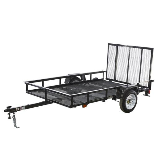 5-ft x 8-ft Wire Mesh Utility Trailer with Ramp Gate Wiring A Trailer on paint a trailer, roof a trailer, building a trailer, mounting a trailer, welding a trailer,