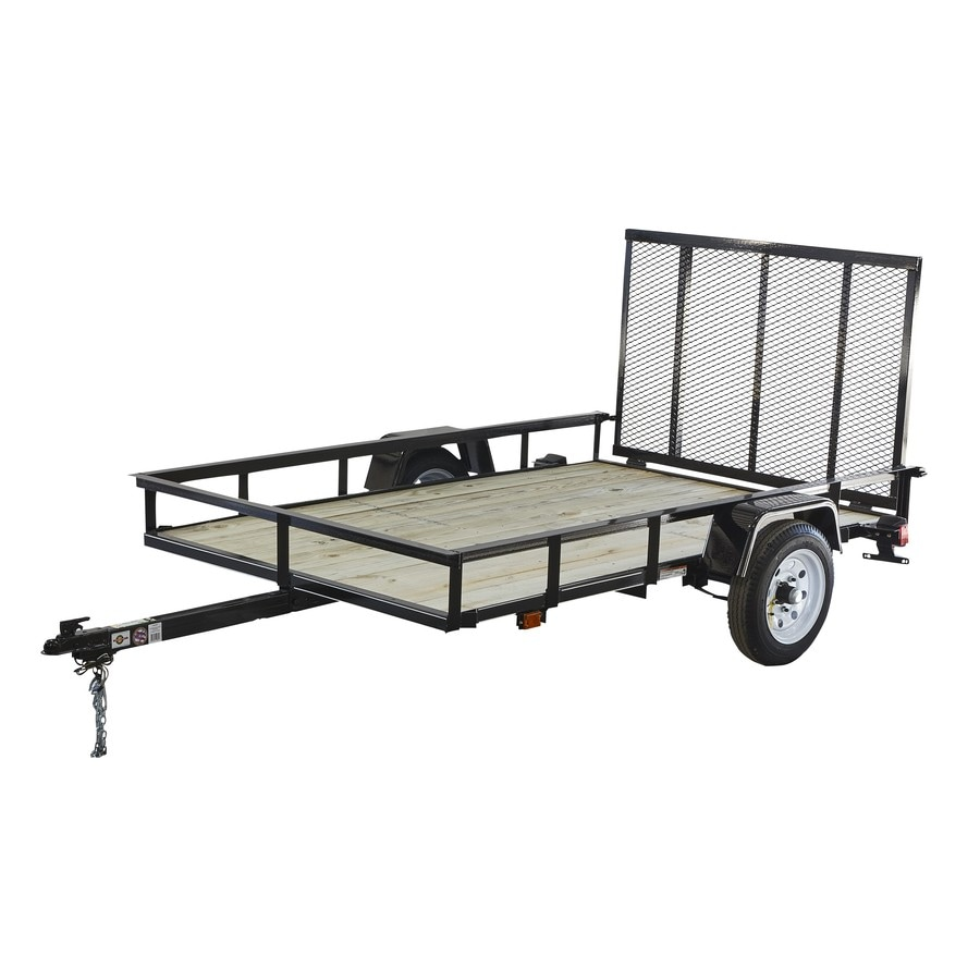 Carry-On Trailer 5-ft x 8-ft Treated Lumber Utility Trailer Ramp Gate