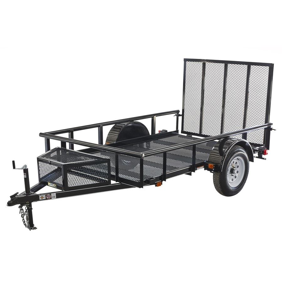 Carry-On Trailer 5.4167-ft x 9-ft Wire Mesh Utility Trailer with Ramp Gate