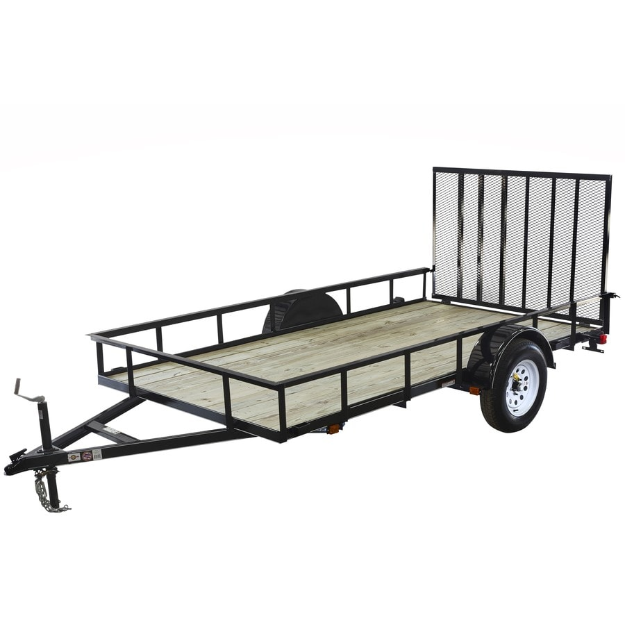 Carry On Trailer 10 Ft X 5 Ft Treated Lumber Utility Trailer With Ramp Gate