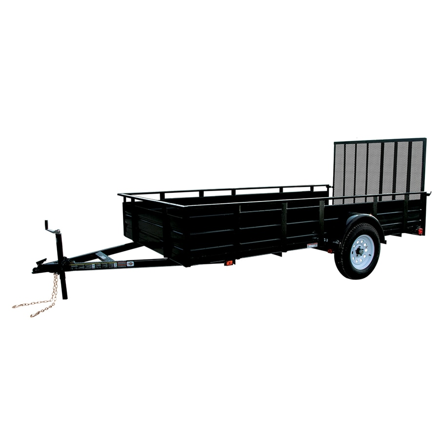 Shop Carry-On Trailer 10-ft x 5-ft Steel Utility Trailer with Gate ...