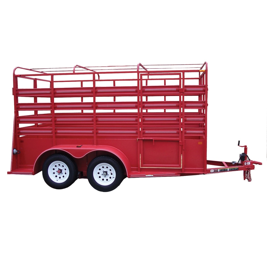 Carry-On Trailer 6-ft x 12-ft Treated Lumber Utility Trailer
