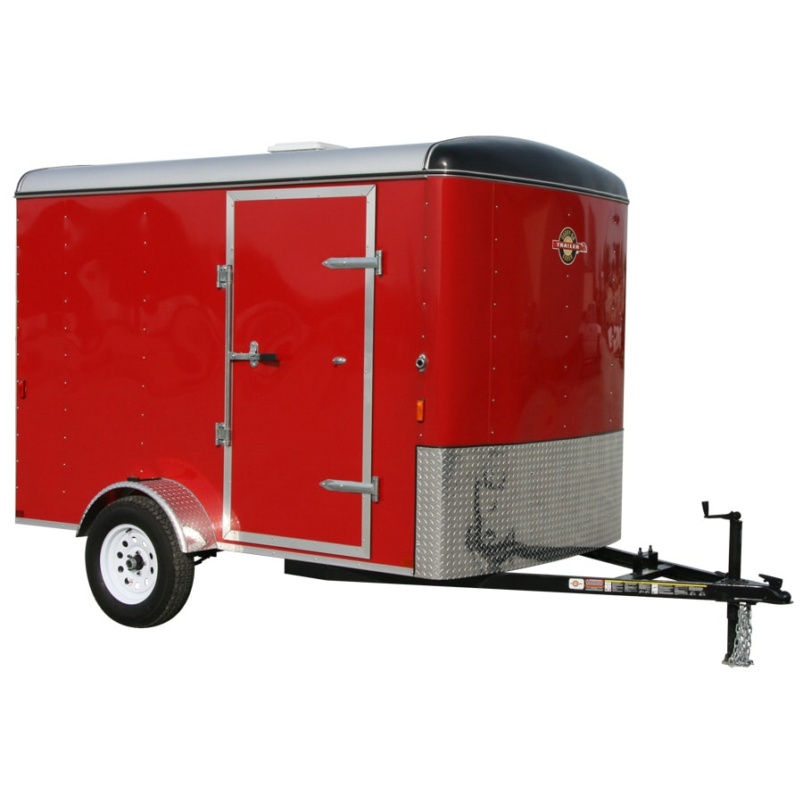 Carry-On Trailer 6-ft x 10-ft Red Enclosed Trailer