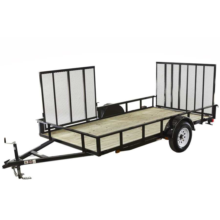 Carry-On Trailer 6-ft x 12-ft Treated Lumber Utility Trailer with Ramp Gate