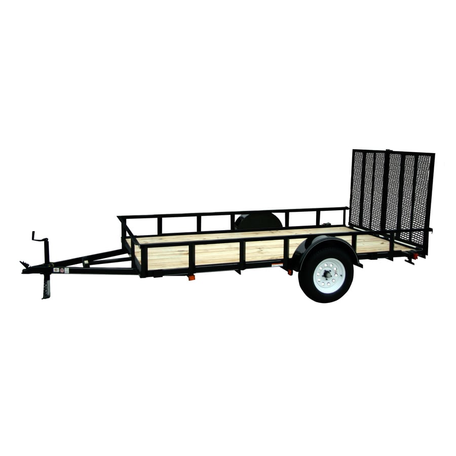 Carry-On Trailer 6-ft x 14-ft Treated Lumber Utility Trailer with Ramp Gate
