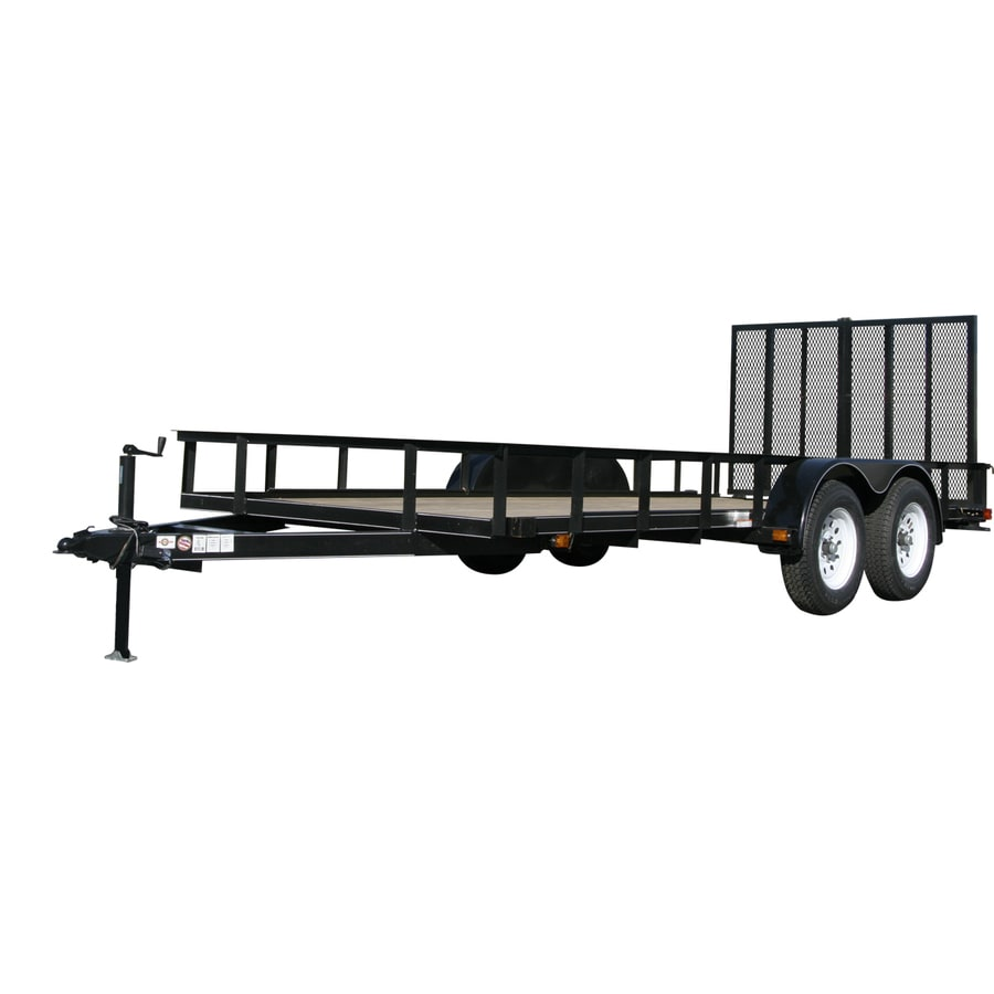 Carry-On Trailer 6-ft x 18-ft Treated Lumber Utility Trailer with Ramp Gate