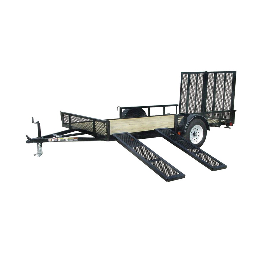 Carry On Trailer 7 Ft X 12 Ft Treated Lumber Utility Trailer With
