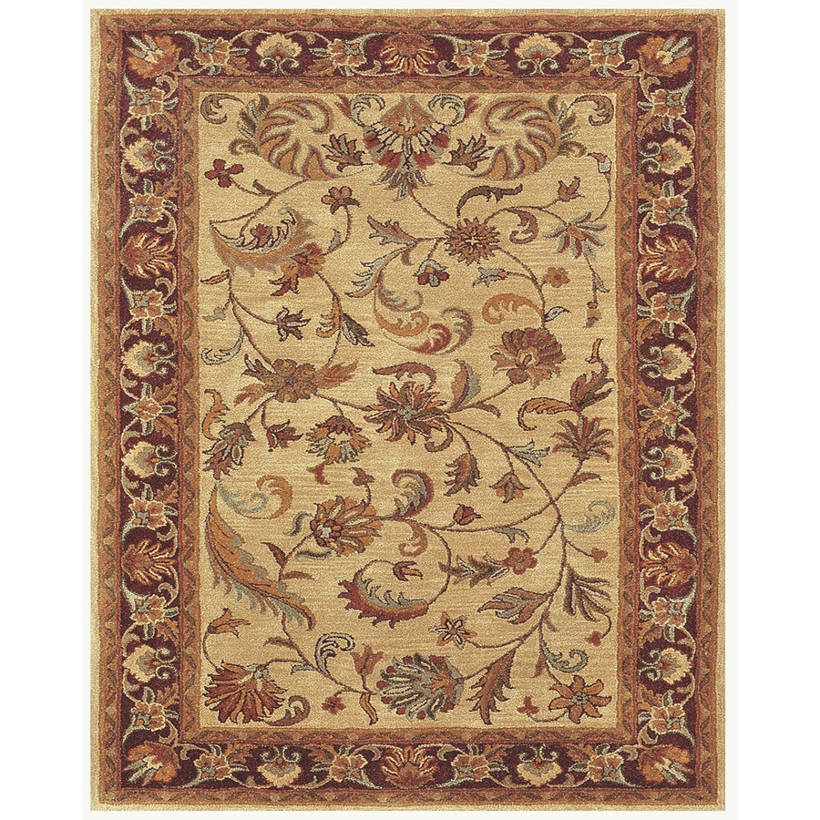 Wakefield Ivory Red Rectangular Indoor Tufted Oriental Throw Rug (Common: 2 x 3; Actual: 2-ft W x 3-ft L)
