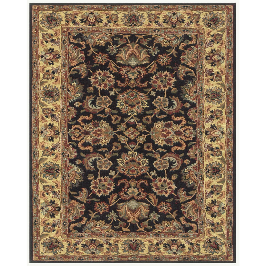 Wakefield Black Gold Rectangular Indoor Tufted Oriental Area Rug (Common: 5 x 8; Actual: 5-ft W x 8-ft L)