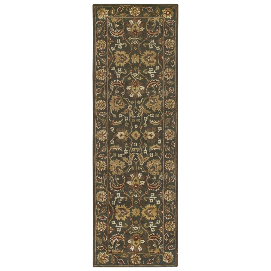Sheridan Gray Tufted Wool Runner Common 2 Ft X 7 Ft Actual 2 916 Ft X 7 5 Ft At Lowes Com