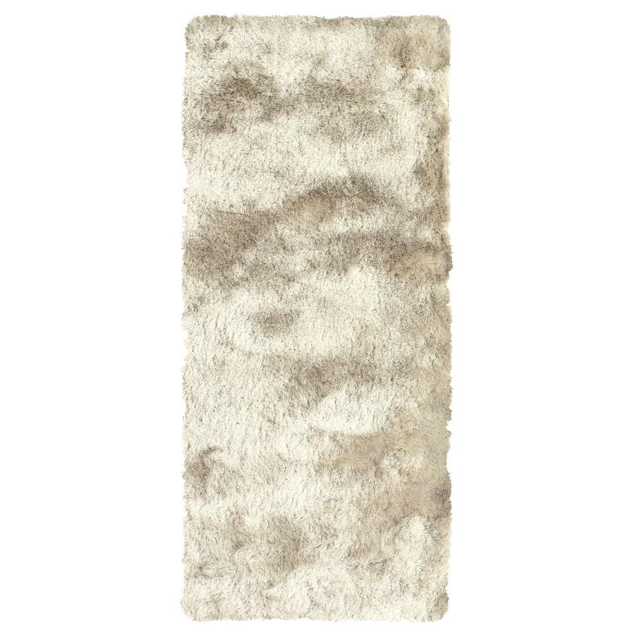 Isleta Cream Rectangular Indoor Tufted Runner (Common: 2 x 8; Actual: 30-in W x 96-in L)