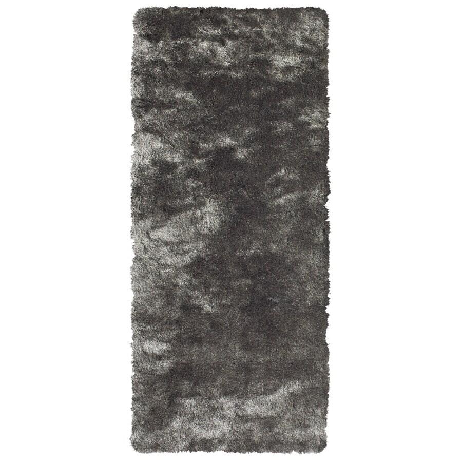 Isleta Gray Rectangular Indoor Tufted Runner (Common: 2 x 8; Actual: 27-in W x 96-in L)