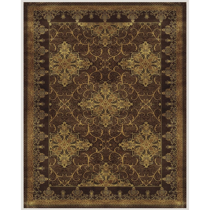 Sheldon Rectangular Brown Border Woven Wool Accent Rug Common 3 Ft X 4 Ft Actual 30 In X 48 In At Lowes Com